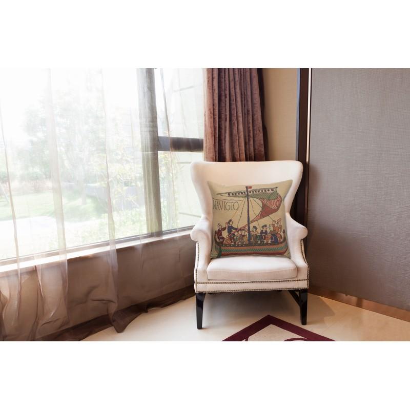 Bayeux throw pillow